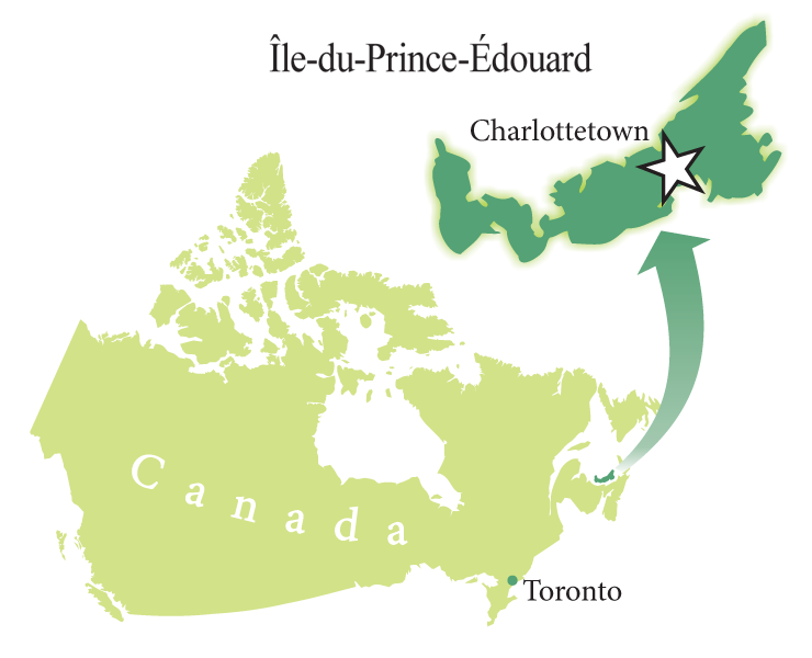 Location map: Prince Edward Island